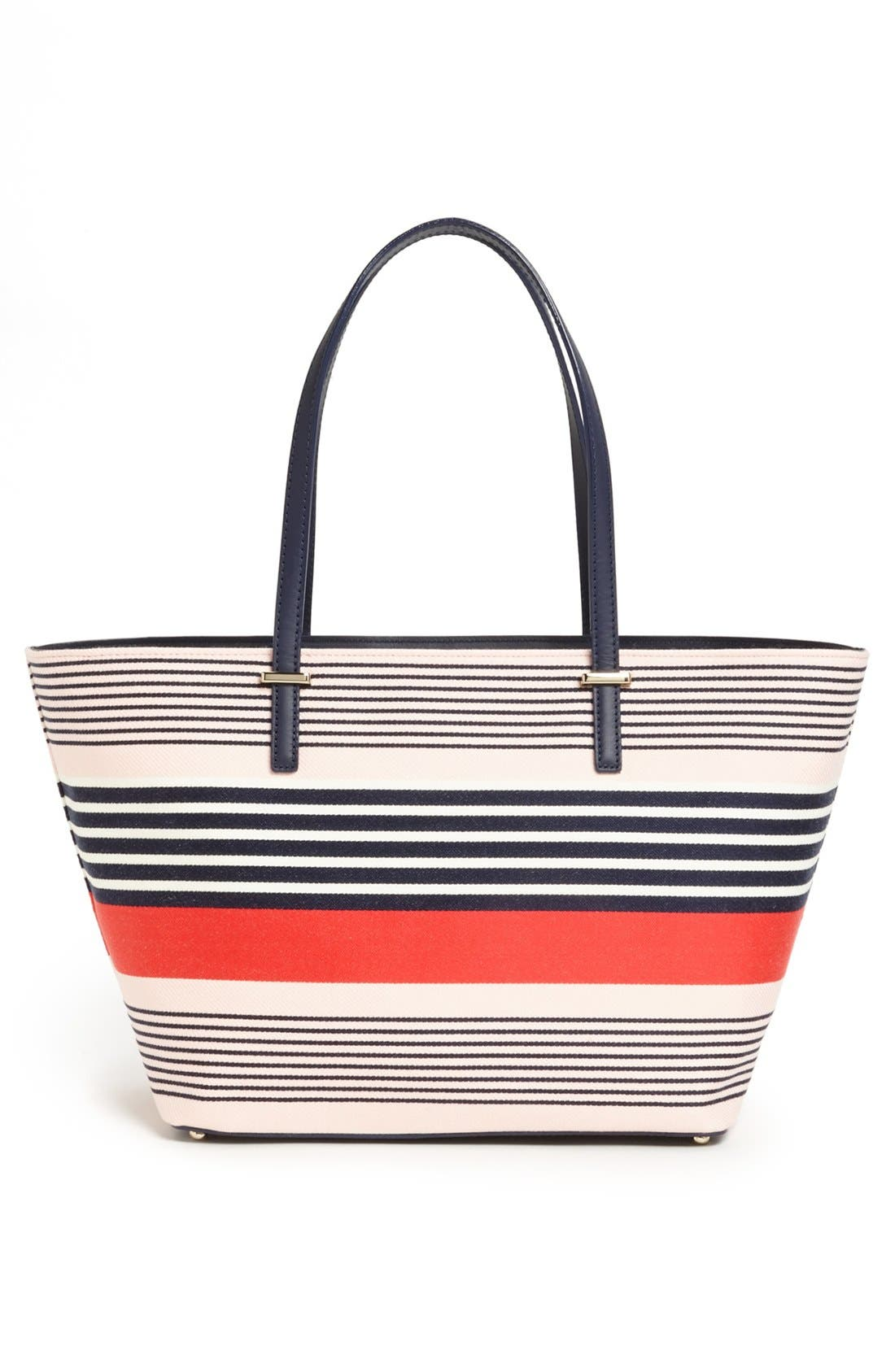 Alternate Image 3  - kate spade new york 'harmony cedar street stripe - small' print tote