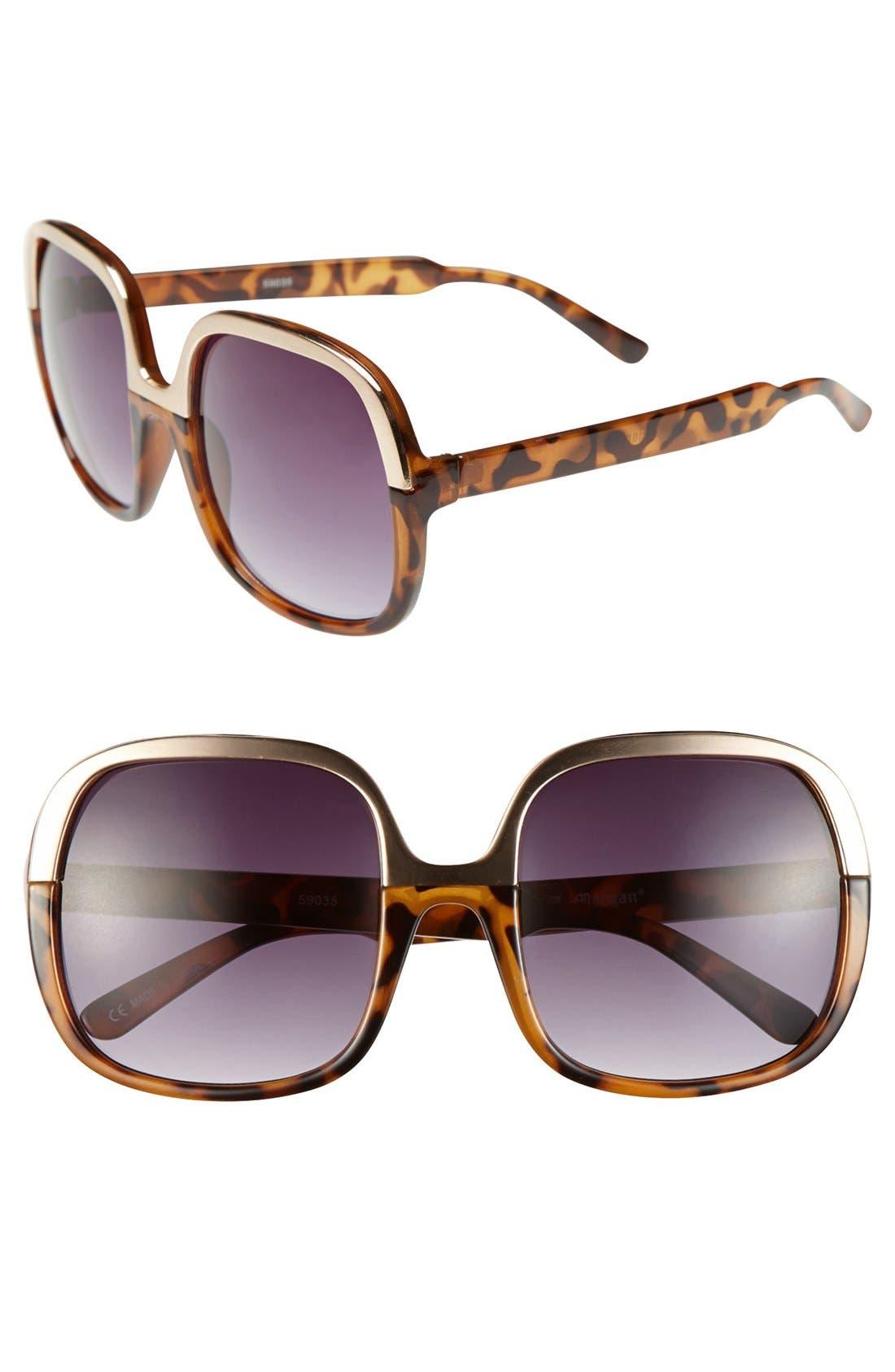 Alternate Image 1 Selected - A.J. Morgan 'Maya' 55mm Sunglasses