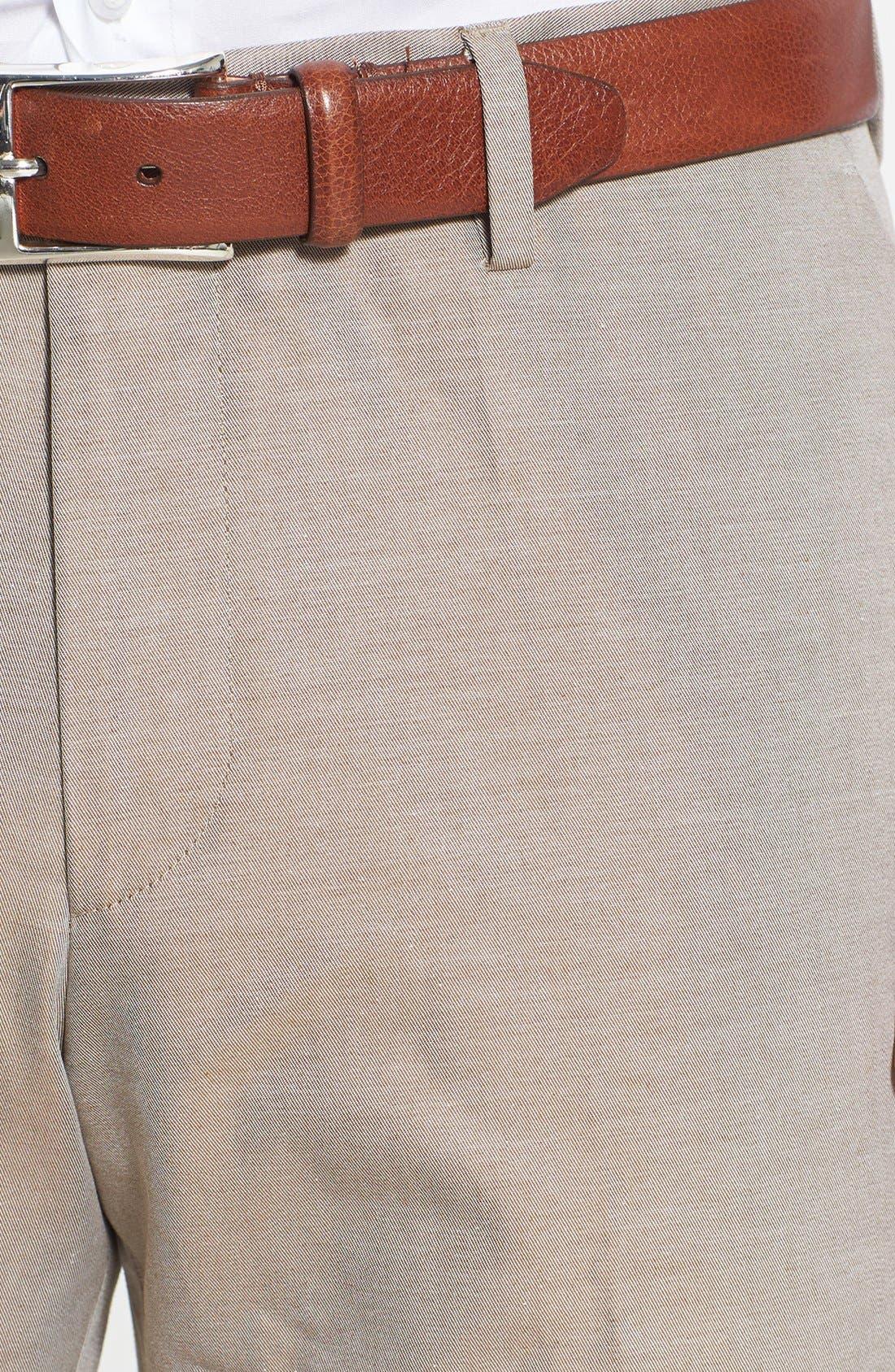 Alternate Image 3  - BOSS HUGO BOSS 'Genesis' Flat Front Cotton Trousers