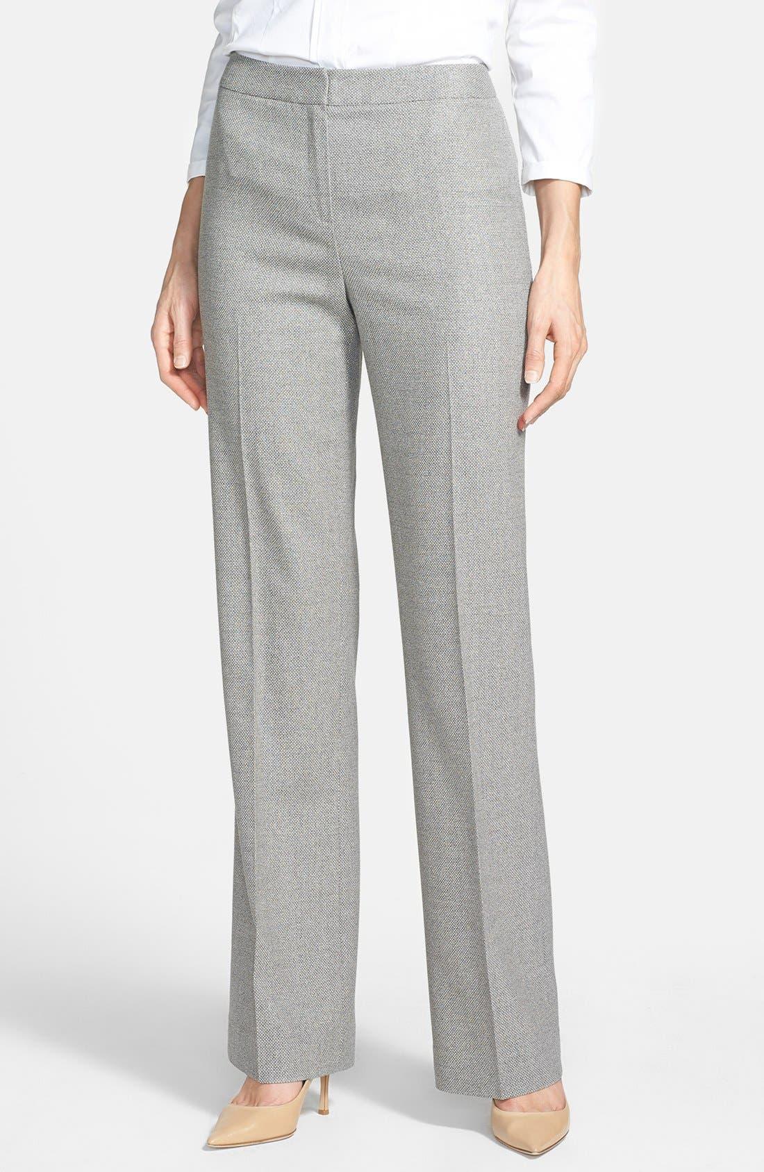 Main Image - Lafayette 148 New York Silk Blend Pants