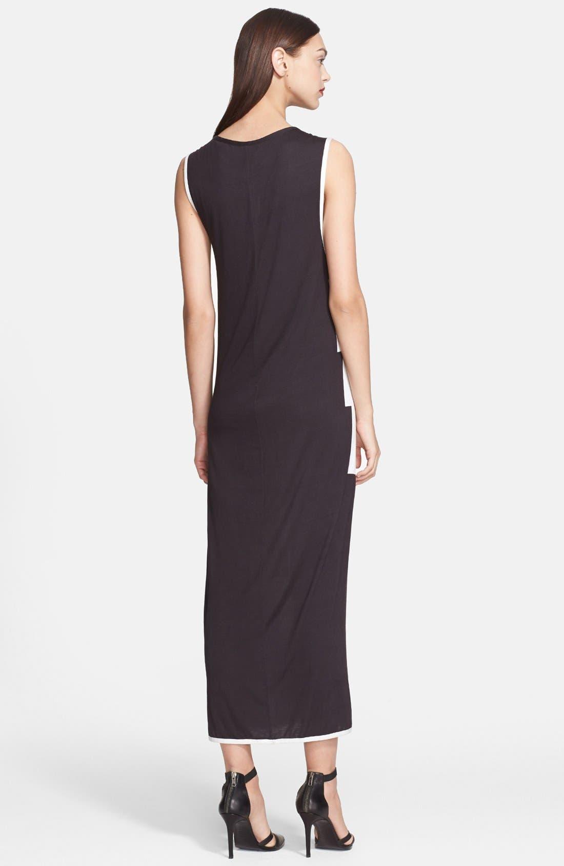 Alternate Image 2  - Helmut Lang Lithograph Print Jersey Maxi Dress