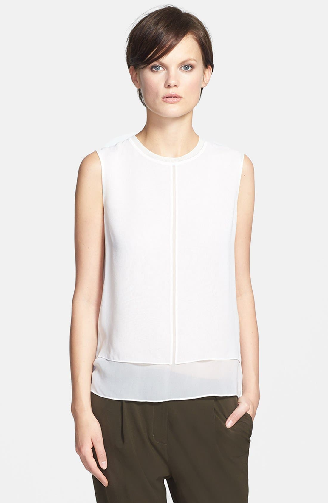 Alternate Image 1 Selected - Vince Sleeveless Overlay Blouse