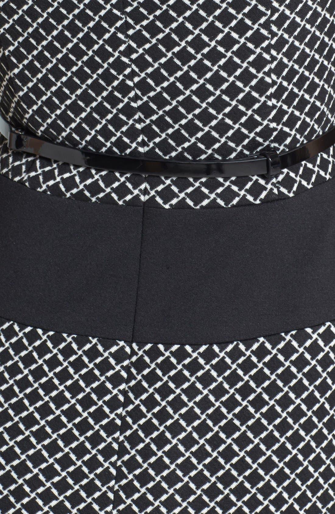 Alternate Image 3  - Anne Klein Diamond Ponte Flare Dress