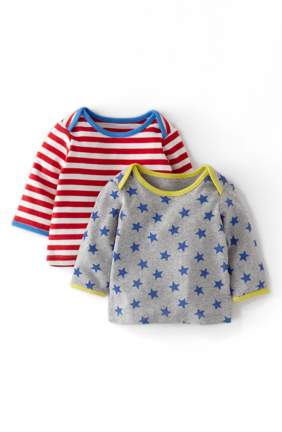 Alternate Image 1 Selected - Mini Boden Cotton Layering T-Shirt (2-Pack) (Baby Boys)