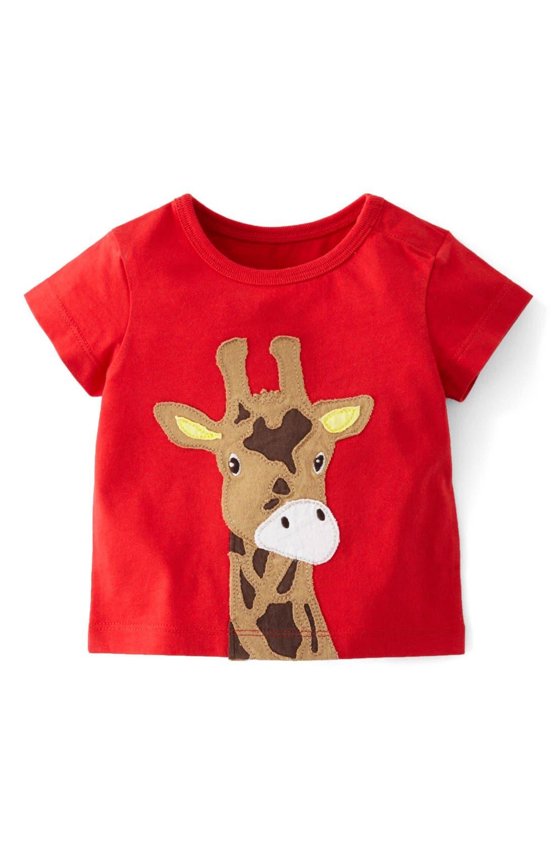 Alternate Image 1 Selected - Mini Boden Animal Appliqué T-Shirt (Baby Boys)