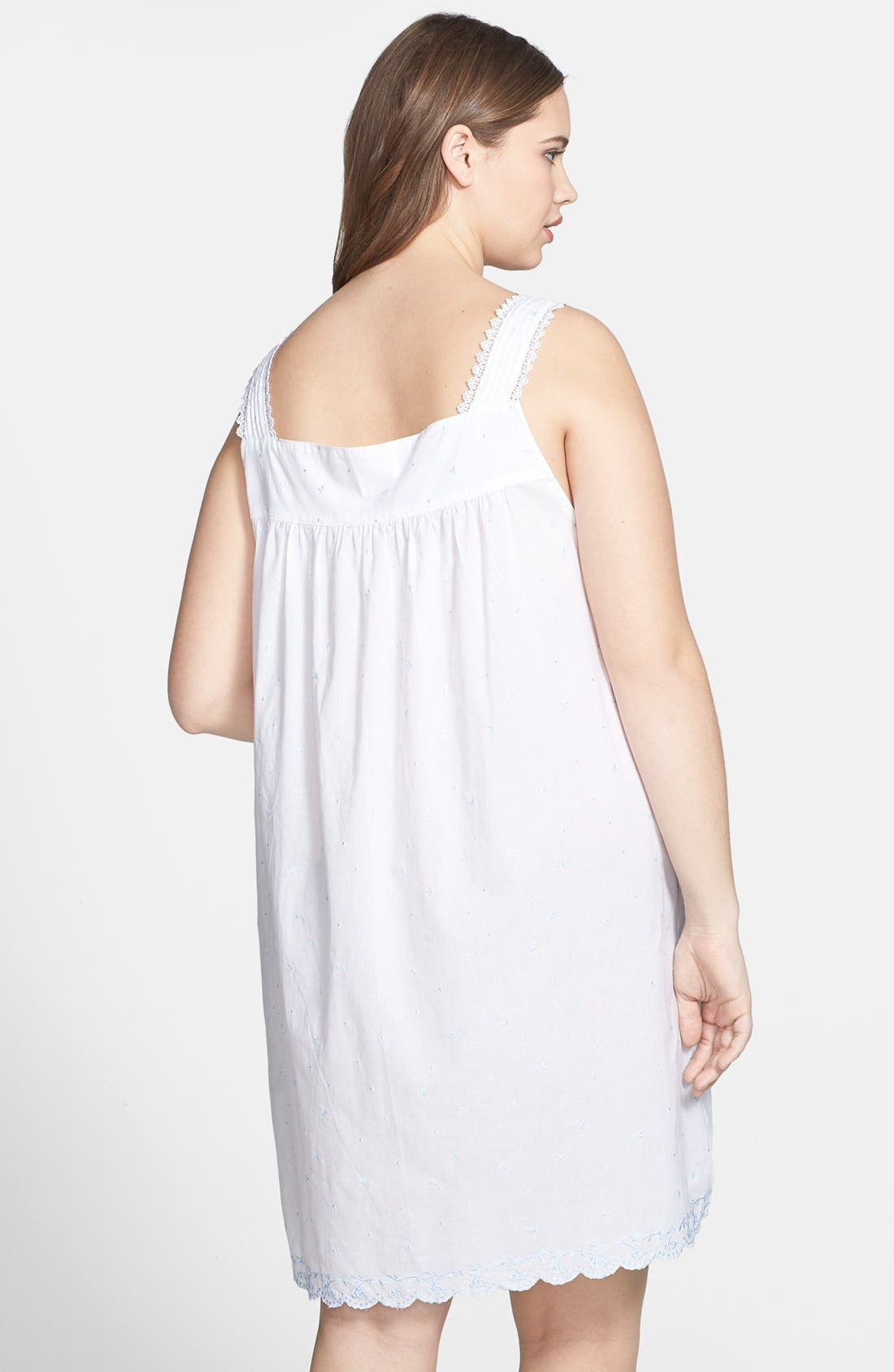 Alternate Image 2  - Eileen West 'The Romantics' Nightgown (Plus Size)