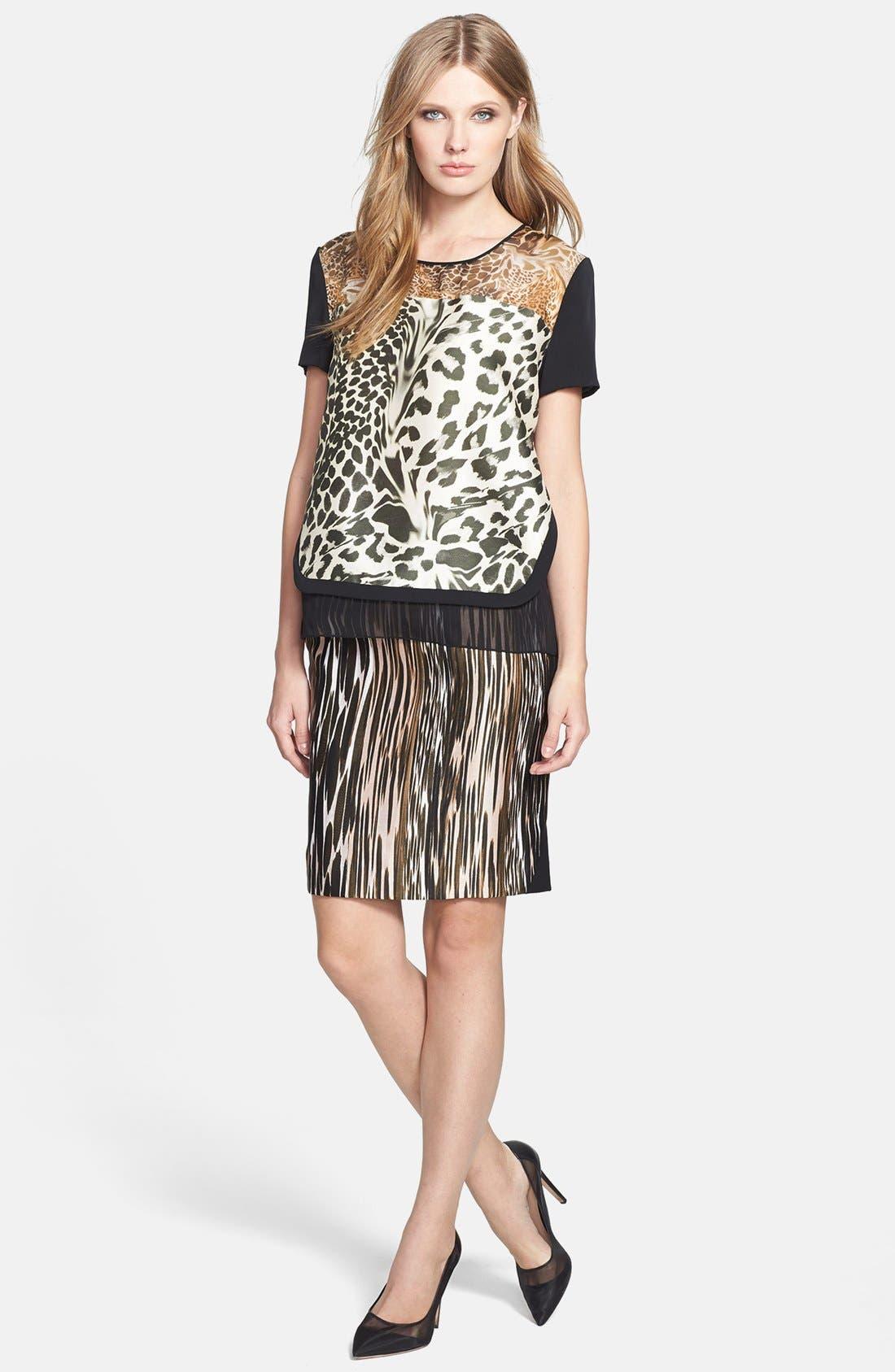 Alternate Image 4  - Diane von Furstenberg 'Mae' Mikado Pencil Skirt