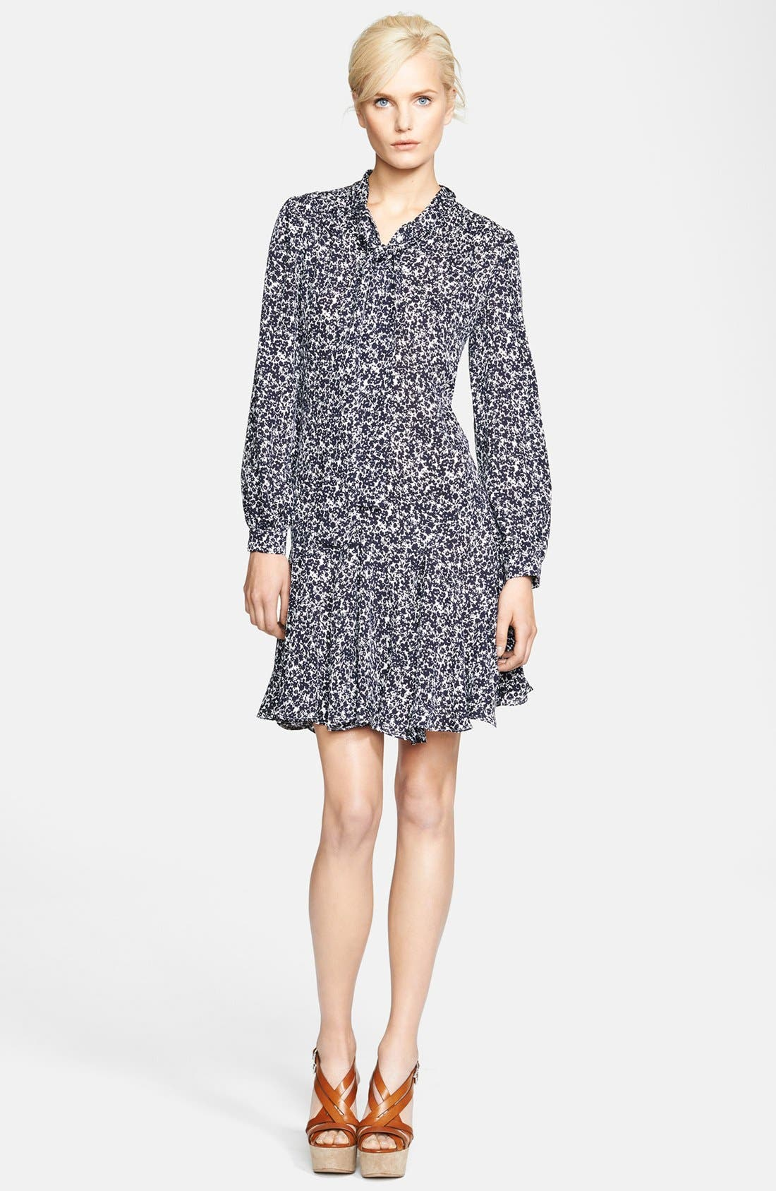 Alternate Image 3  - Michael Kors Print Silk Georgette Dress