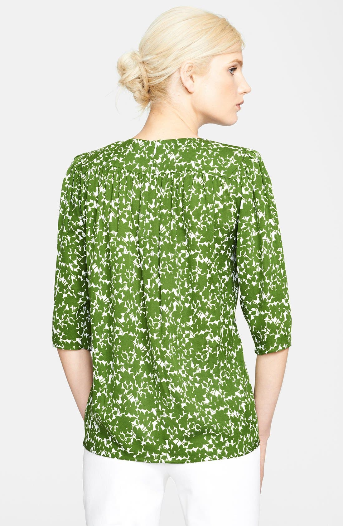 Alternate Image 2  - Michael Kors Print Silk Blouse