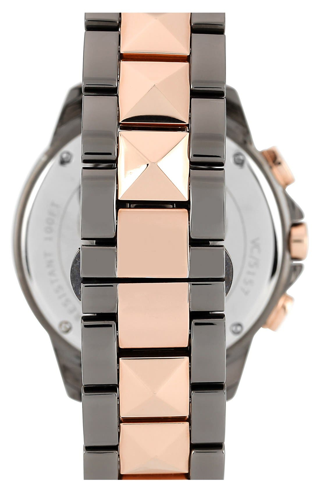 Alternate Image 2  - Vince Camuto Multifunction Pyramid Bracelet Watch, 42mm