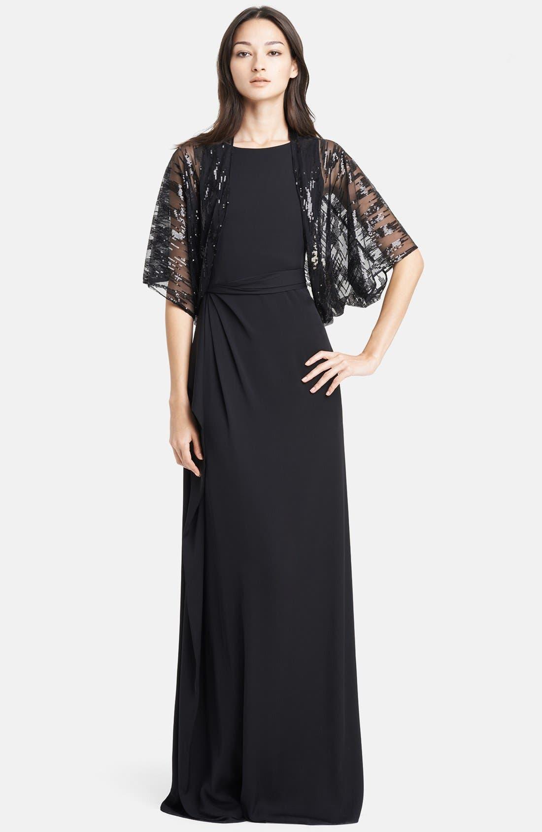 Alternate Image 4  - Armani Collezioni Side Drape Cady Gown