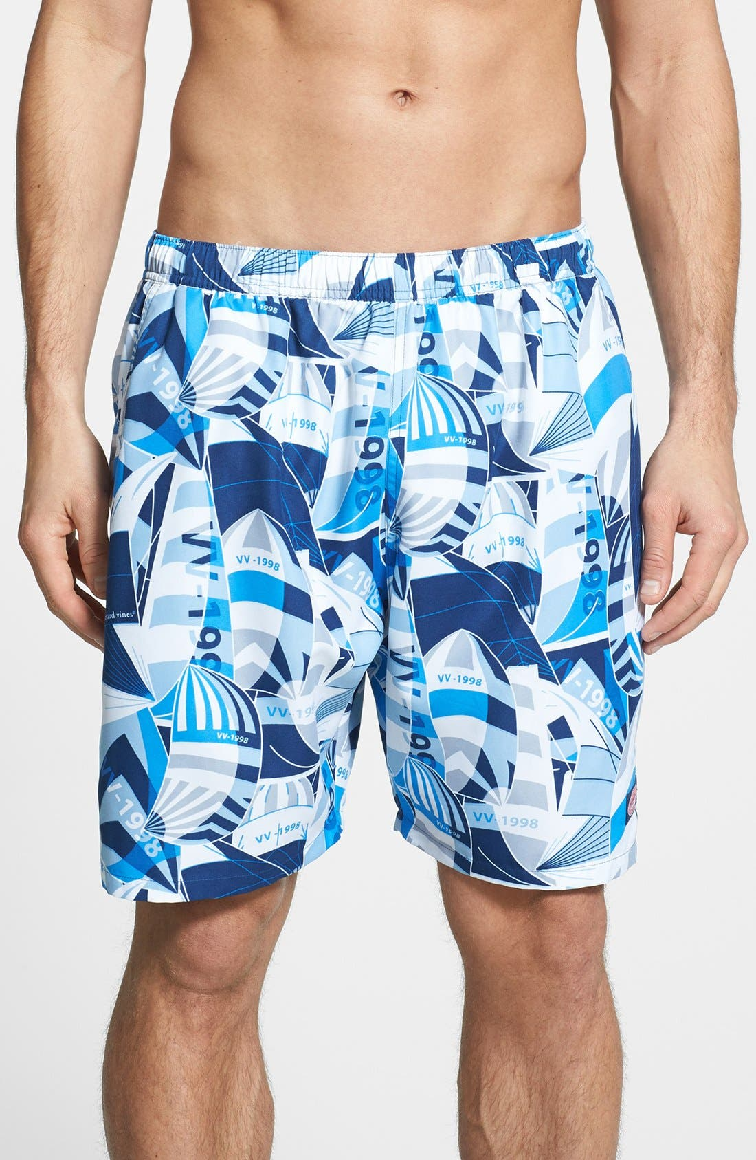 Main Image - Vineyard Vines 'Sail Sheets Chappy' Swim Trunks