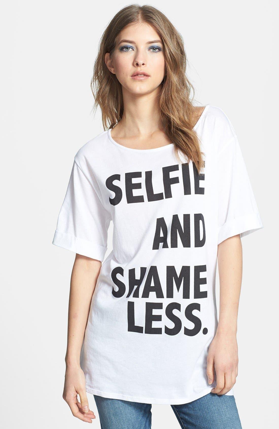 Main Image - Madison & Berkeley 'Selfie and Shameless' Tee