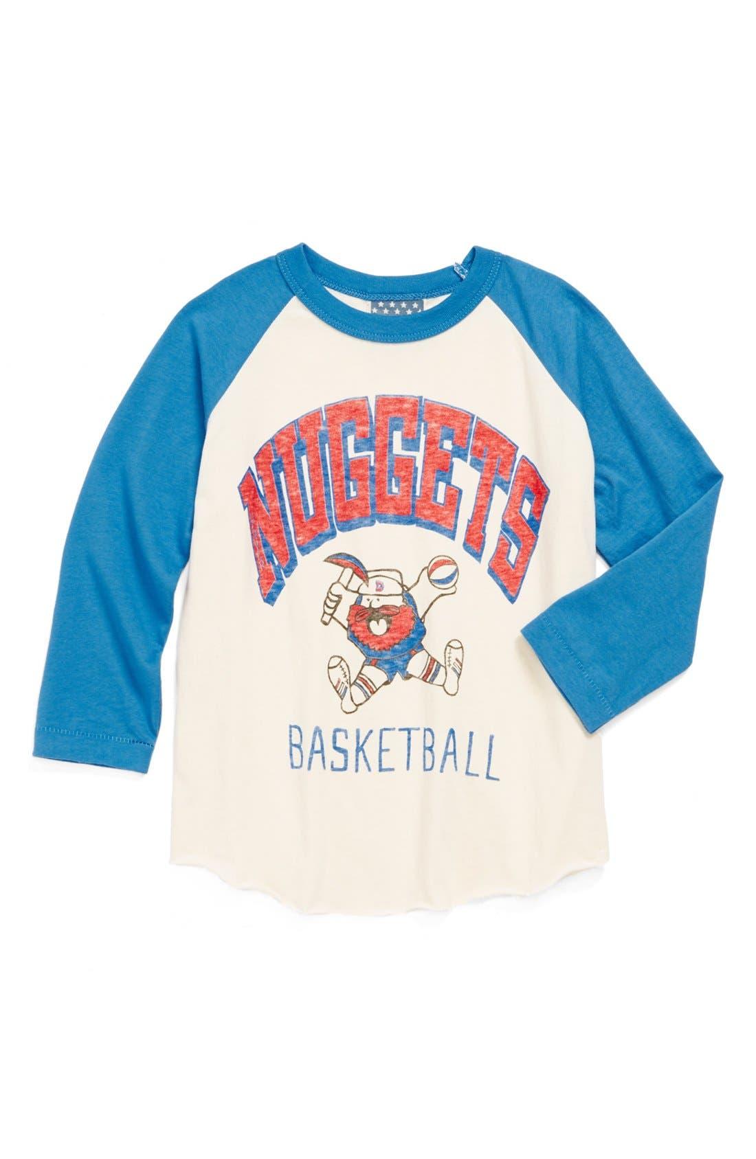 Alternate Image 1 Selected - Junk Food 'Denver Nuggets' Long Sleeve T-Shirt (Little Boys & Big Boys)