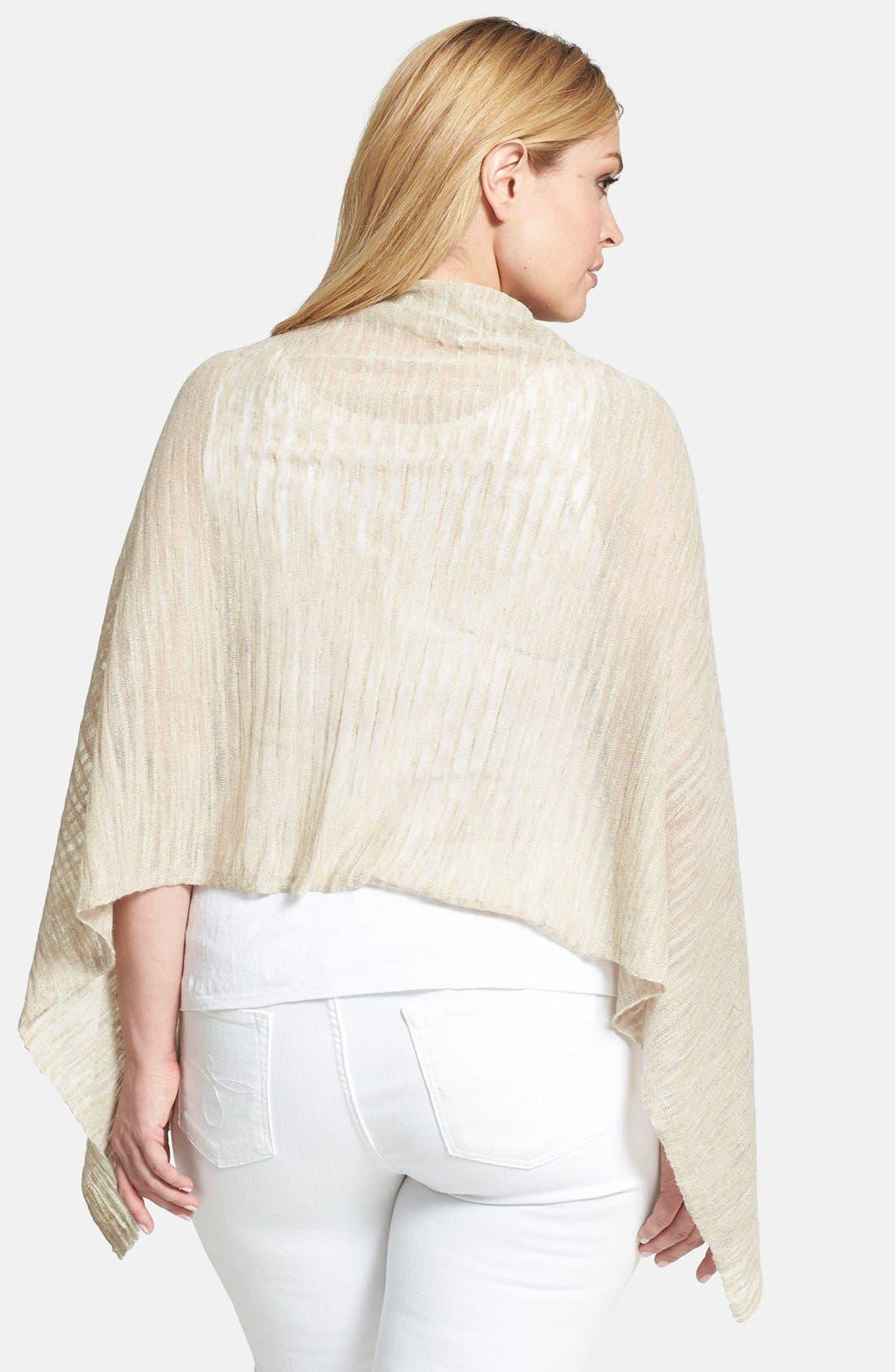Alternate Image 2  - Eileen Fisher Linen Blend Poncho (Plus Size)