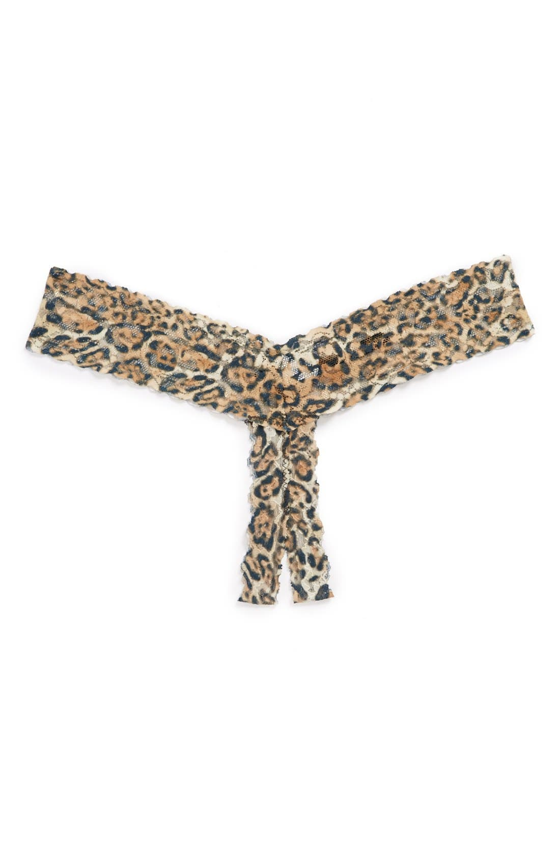 Main Image - Hanky Panky 'After Midnight' Open Gusset Lace Thong