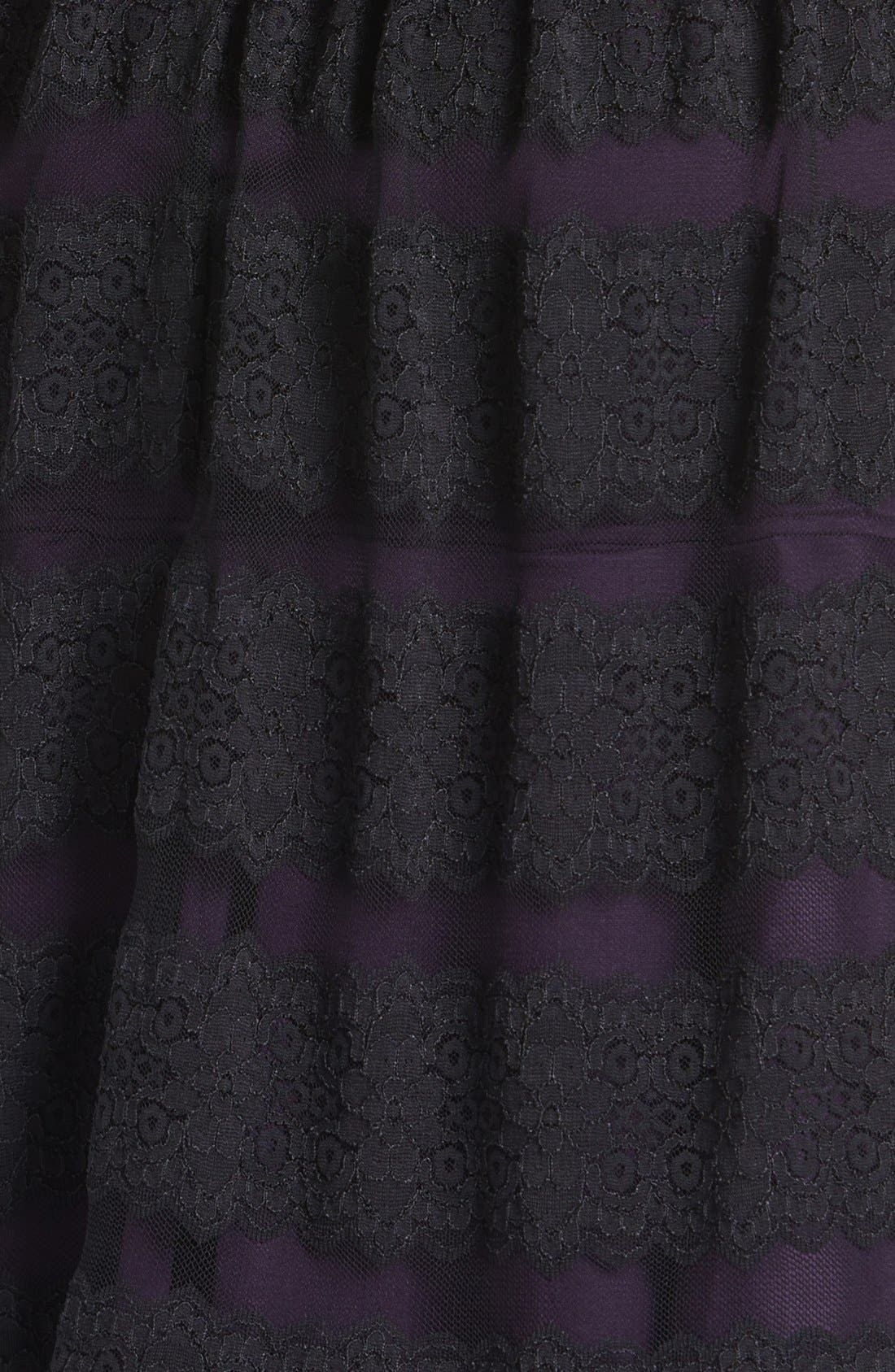 Alternate Image 3  - Alex Evenings Lace Fit & Flare Dress (Petite)