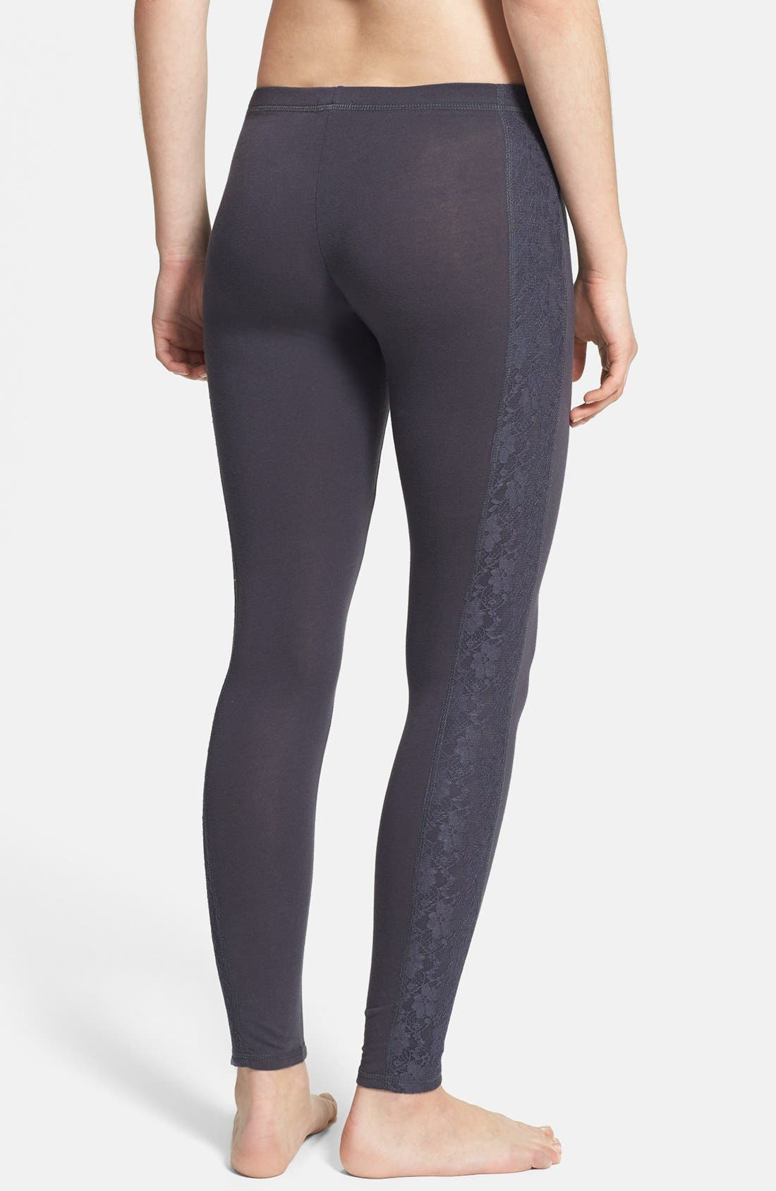 Alternate Image 2  - COZY ZOE 'Heart Breaker' Lace Panel Leggings