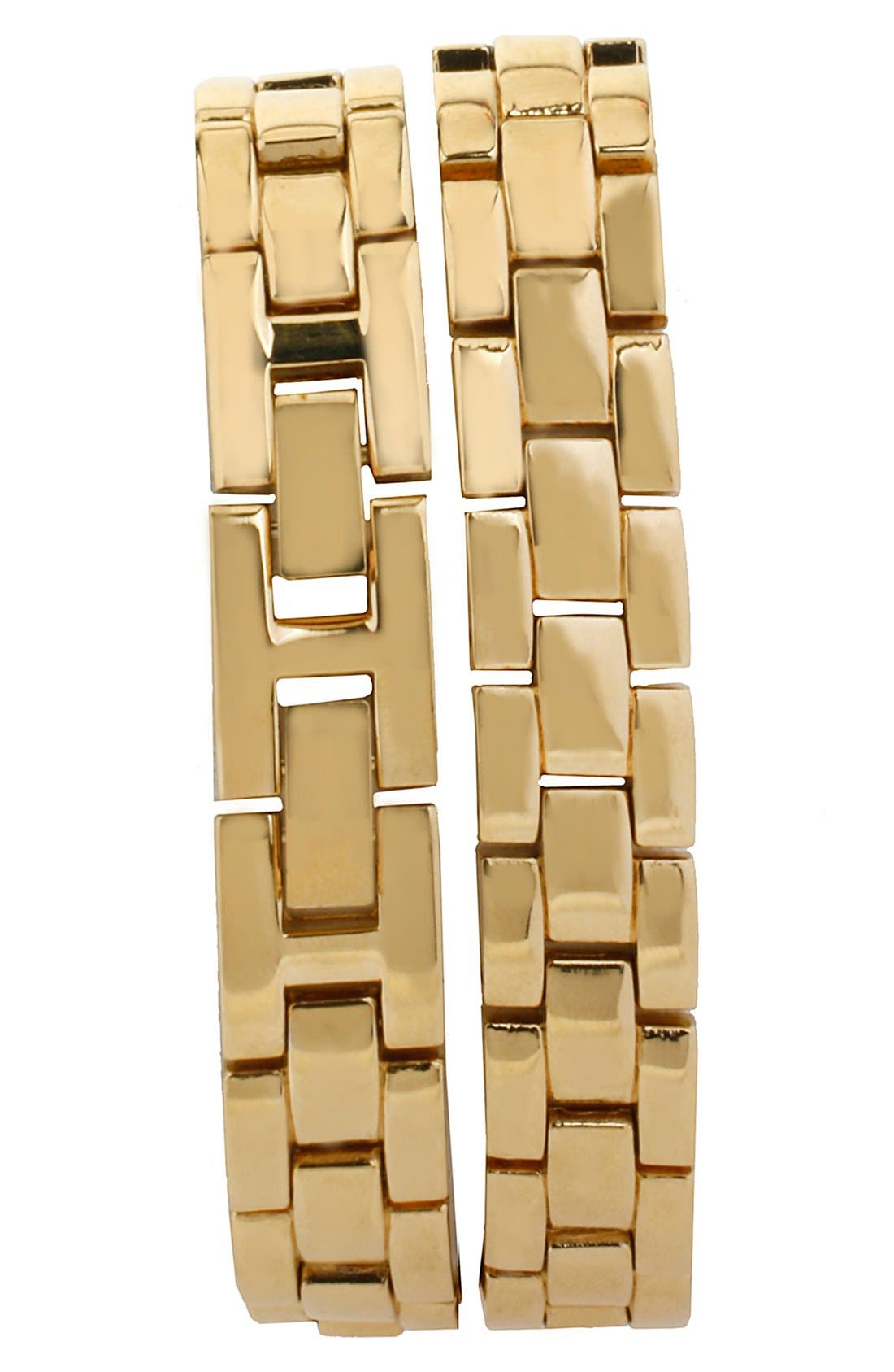 Alternate Image 2  - Betsey Johnson Crystal Bezel Wrap Bracelet Watch, 28mm