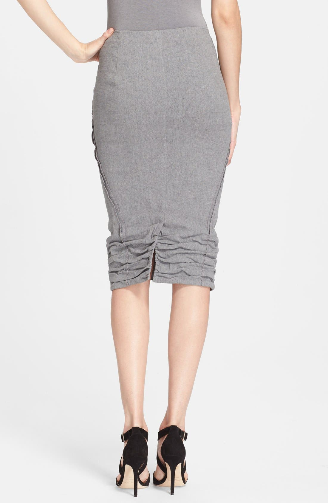 Alternate Image 2  - Donna Karan Collection Linen Blend Midi Skirt