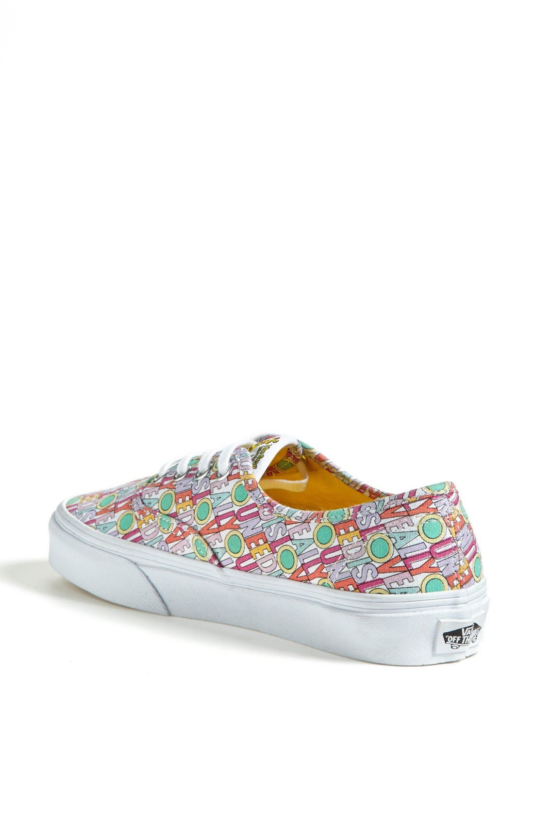 Alternate Image 2  - Vans 'Authentic - All You Need Is Love' Sneaker