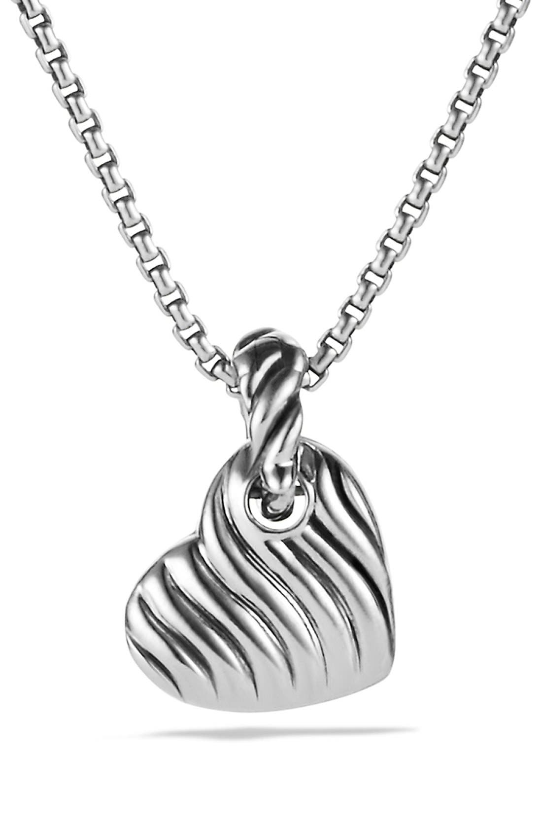 Alternate Image 3  - David Yurman 'Cable Heart' Pendant with Diamonds