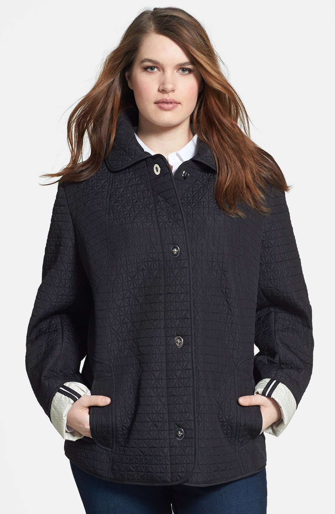 Alternate Image 1 Selected - Gallery Turnkey Quilted Jacket (Plus Size)