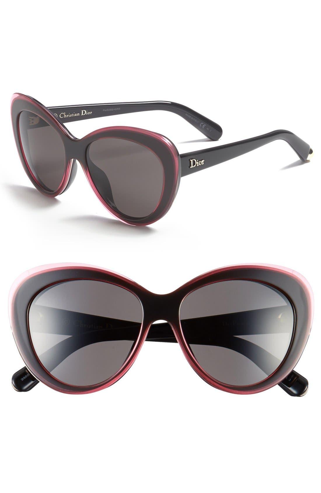 Main Image - Dior 'Promesse 1' 55mmCat Eye Sunglasses