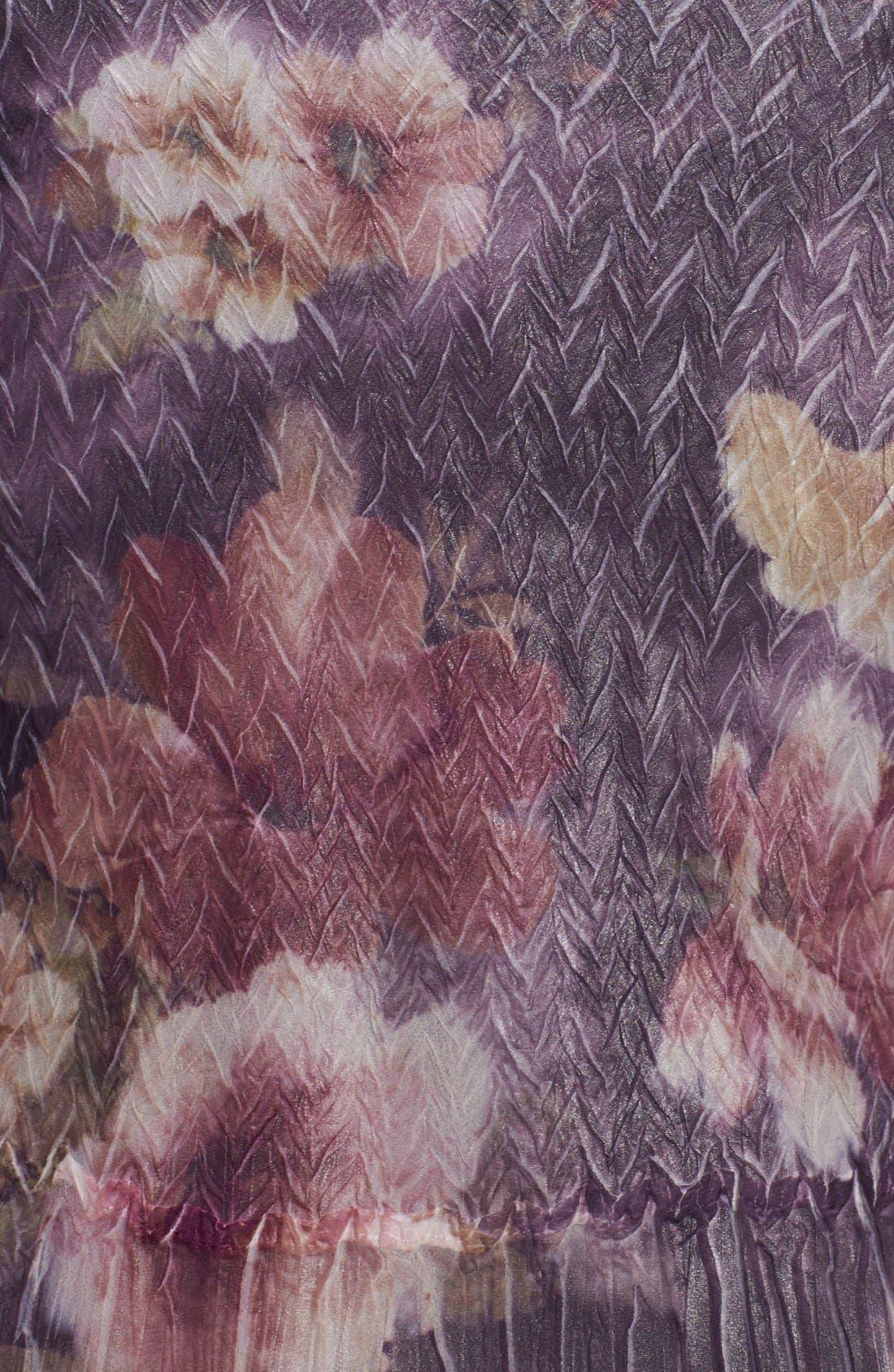 Alternate Image 3  - Komarov Floral Print Charmeuse Dress (Plus Size)