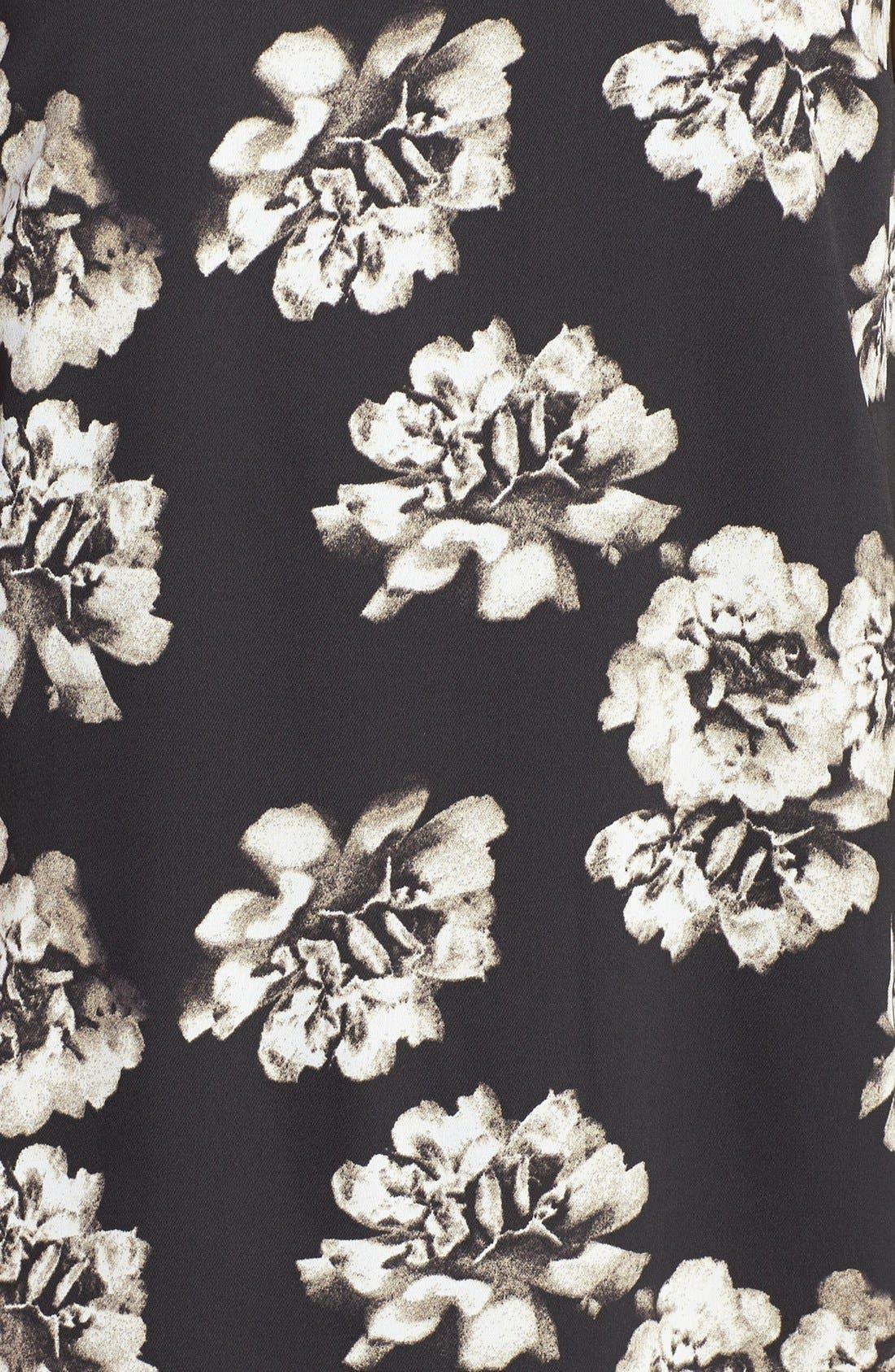 Alternate Image 3  - kensie Floral Front Mixed Media Shift Dress