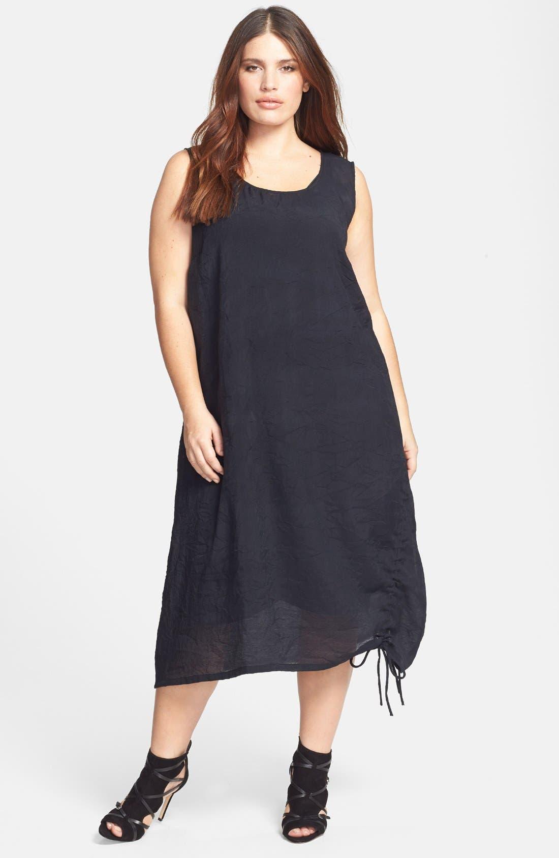 Alternate Image 1 Selected - Citron Ruched Sleeveless Dress (Plus Size)