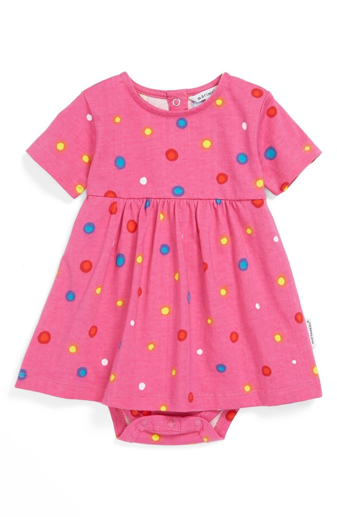Alternate Image 1 Selected - Marimekko Polka Dot Bodysuit (Baby Girls)