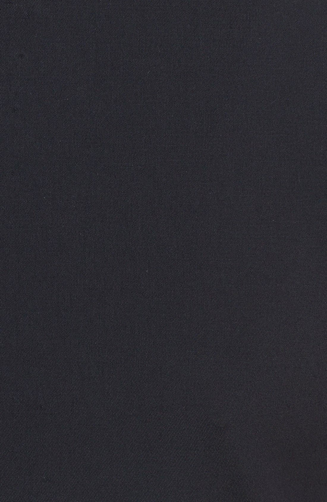 Alternate Image 3  - Lafayette 148 New York 'Zelina' Stretch Dress with Leather Trim (Regular & Petite)