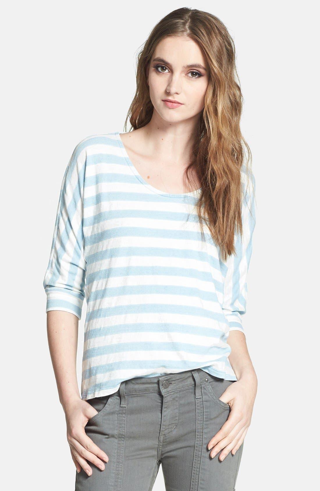 Alternate Image 1 Selected - Splendid Stripe Dolman Sleeve Cotton Top