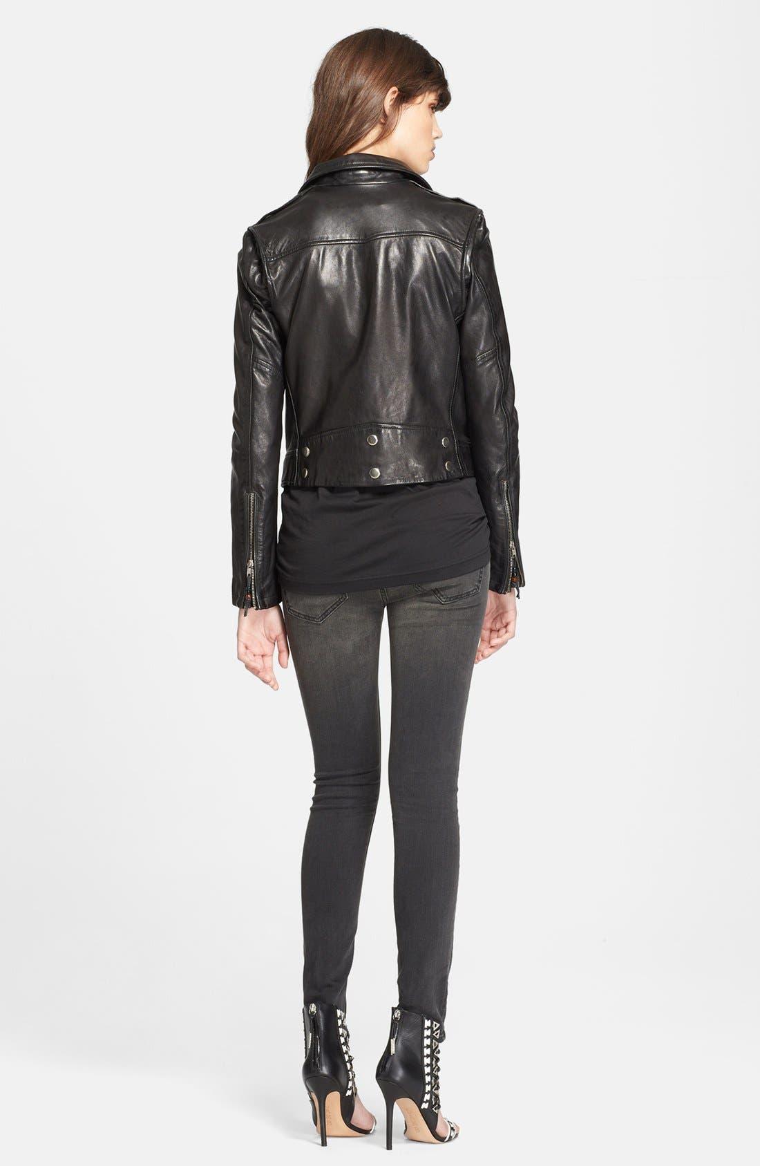 Alternate Image 2  - BLK DNM Lambskin Leather Jacket