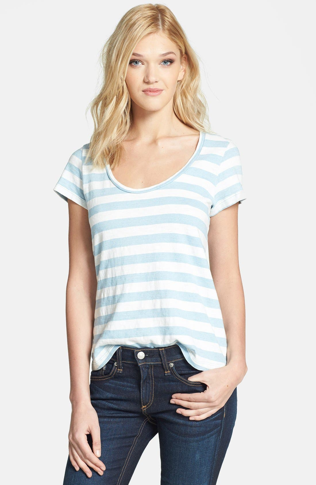 Main Image - Splendid Stripe Cotton Boyfriend Tee