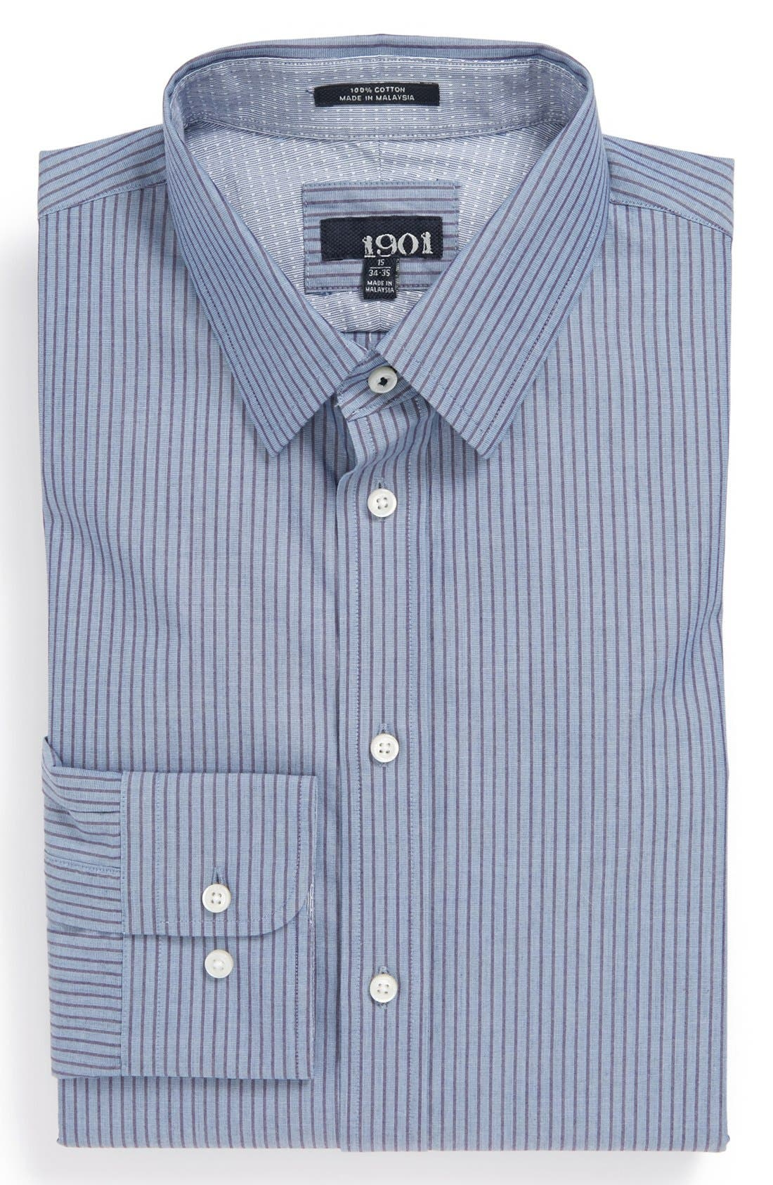 Main Image - 1901 Trim Fit Stripe Dress Shirt
