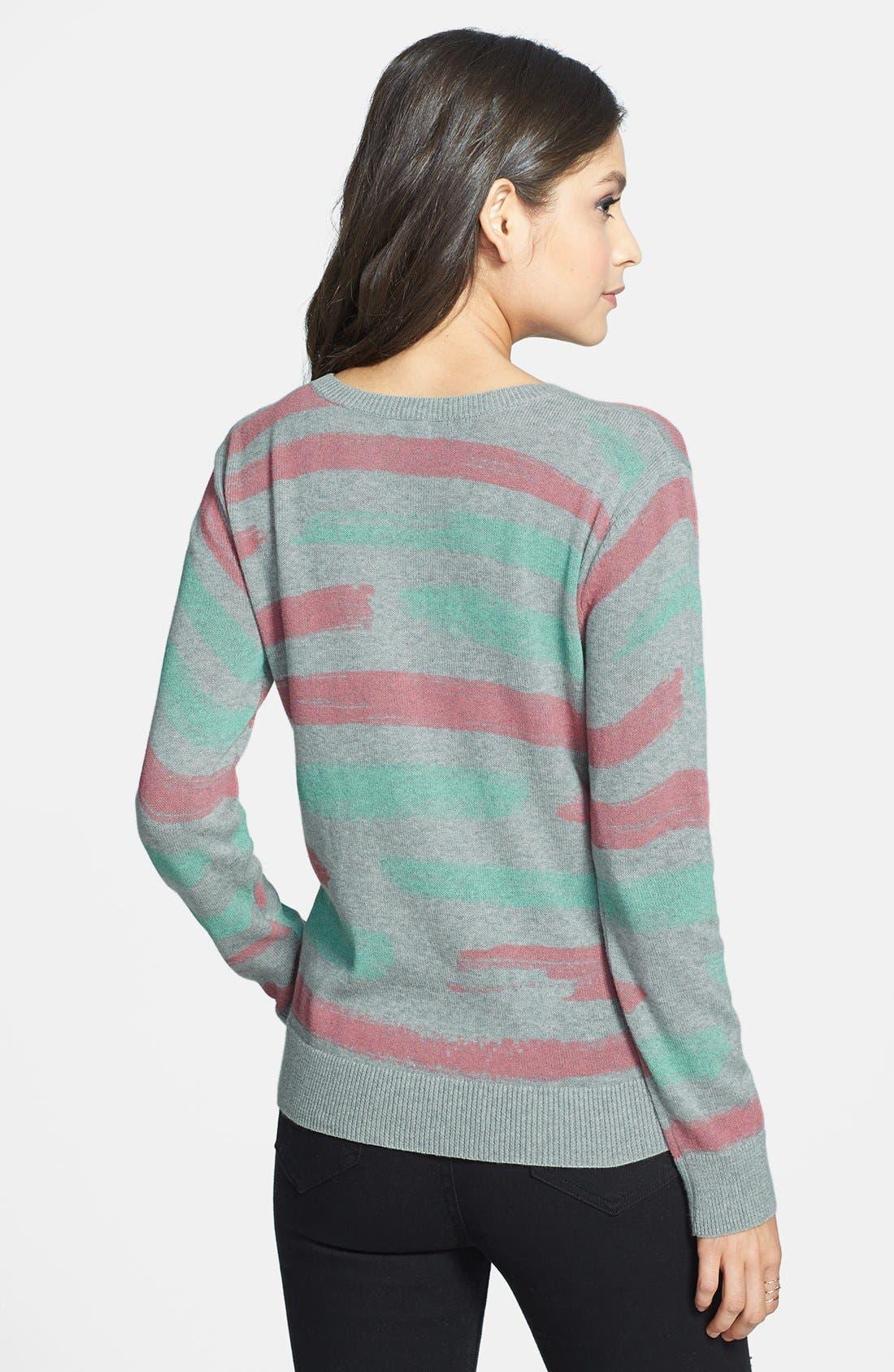 Alternate Image 2  - BP. Stripe Cotton Pullover (Juniors)