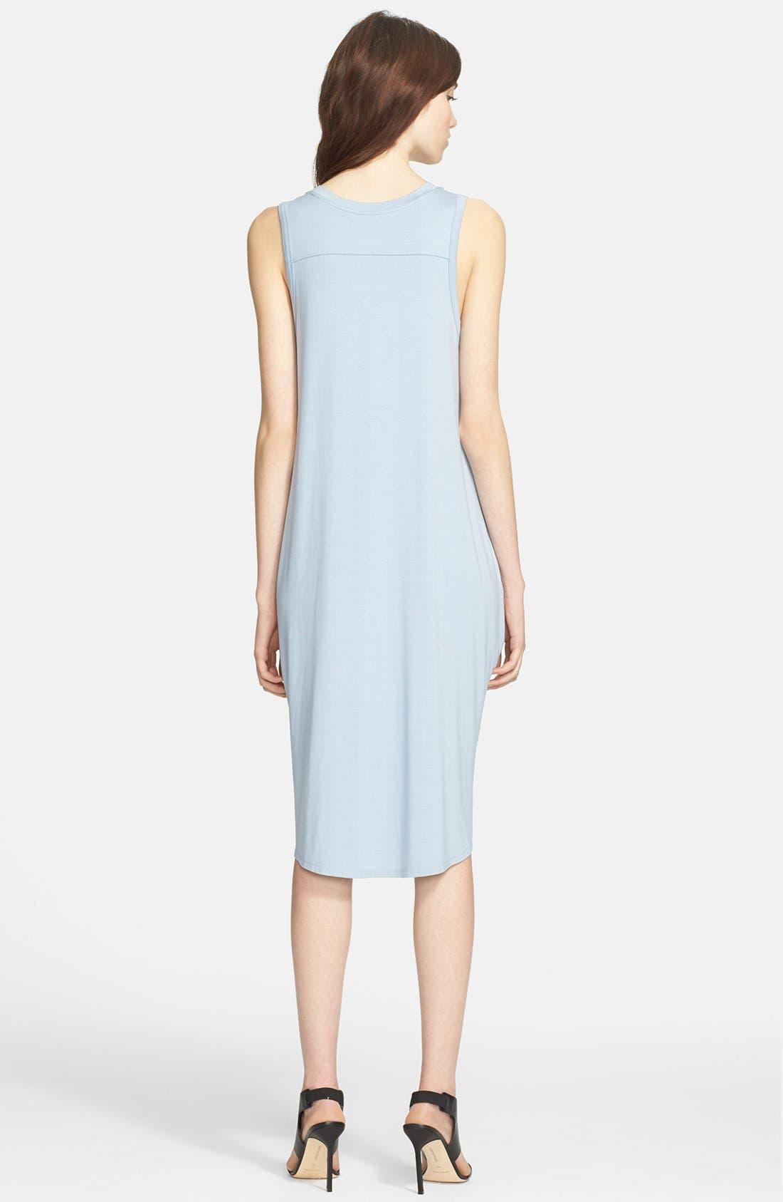 Alternate Image 2  - L'AGENCE Draped Jersey Tunic Dress
