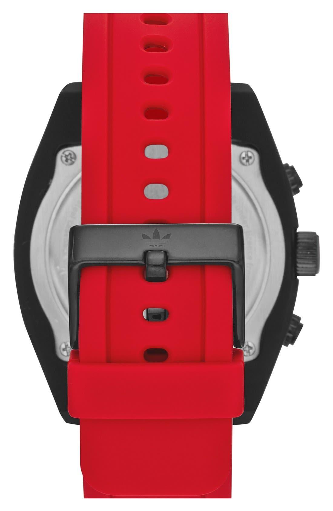 Alternate Image 2  - adidas Originals 'Brisbane' Chronograph Silicone Strap Watch, 47mm