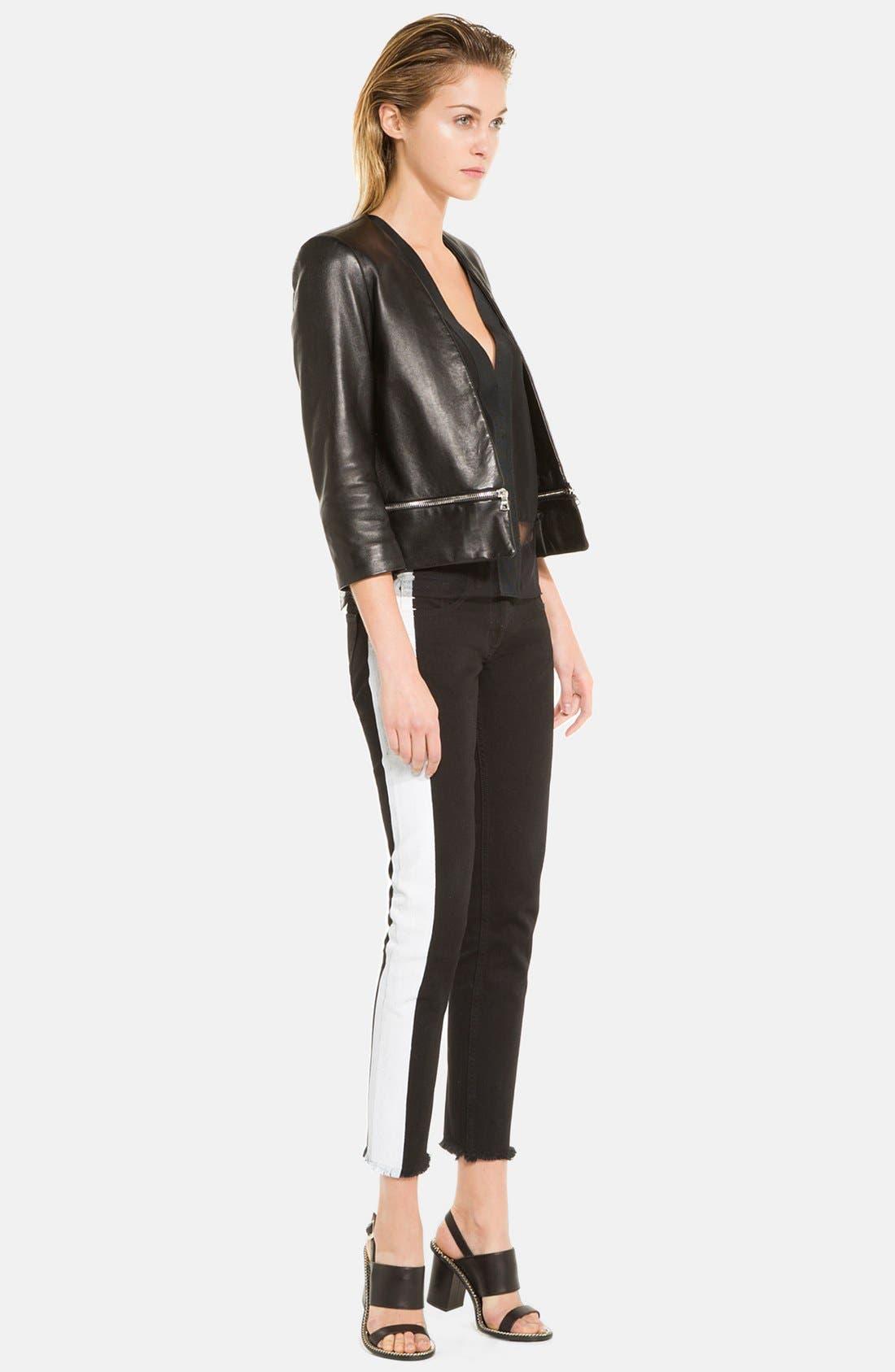 Alternate Image 1 Selected - sandro 'Voeu' Leather Jacket