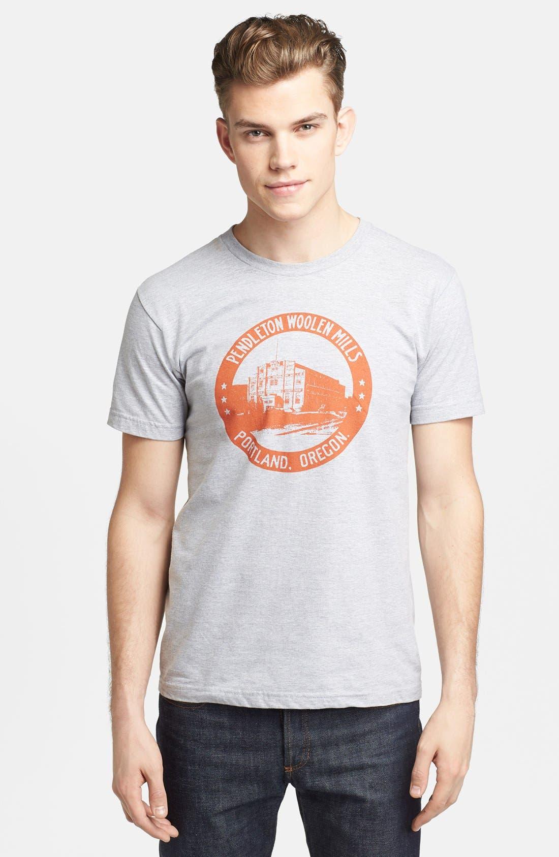 Alternate Image 1 Selected - Pendleton Portland Collection 'Mill' Crewneck T-Shirt