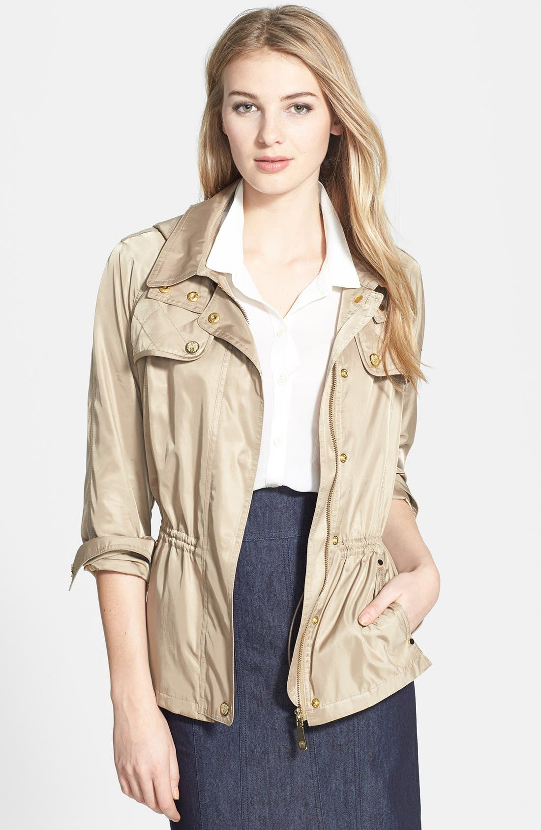 Main Image - Vince Camuto Quilt Detail Short Anorak