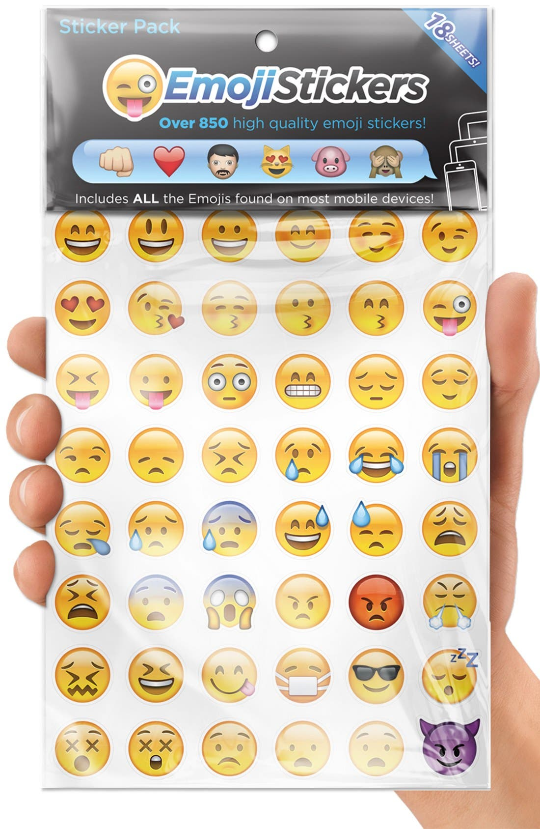 Alternate Image 1 Selected - Emoji Sticker Pack Emoji Stickers (18-Pack)