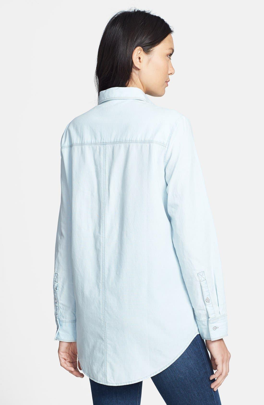 Alternate Image 2  - Hinge® Boyfriend Chambray Shirt