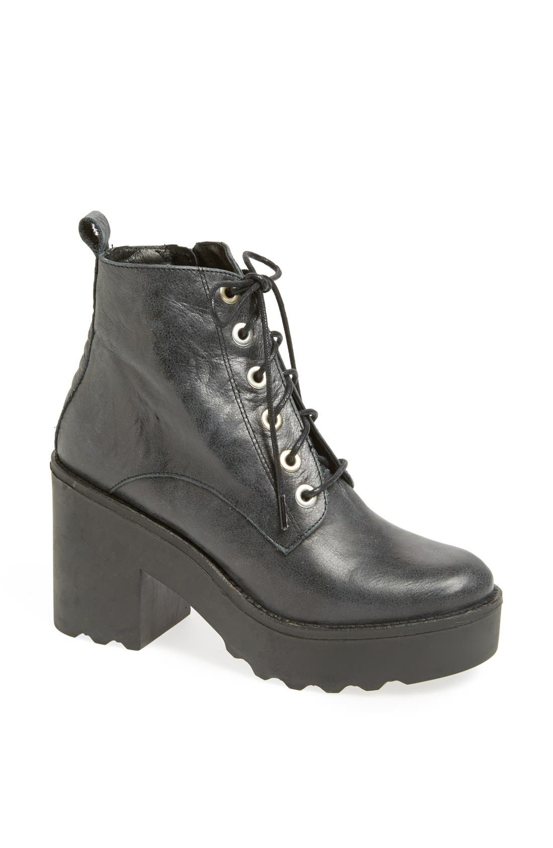Alternate Image 1 Selected - Topshop 'Apples' Chunky Platform Bootie