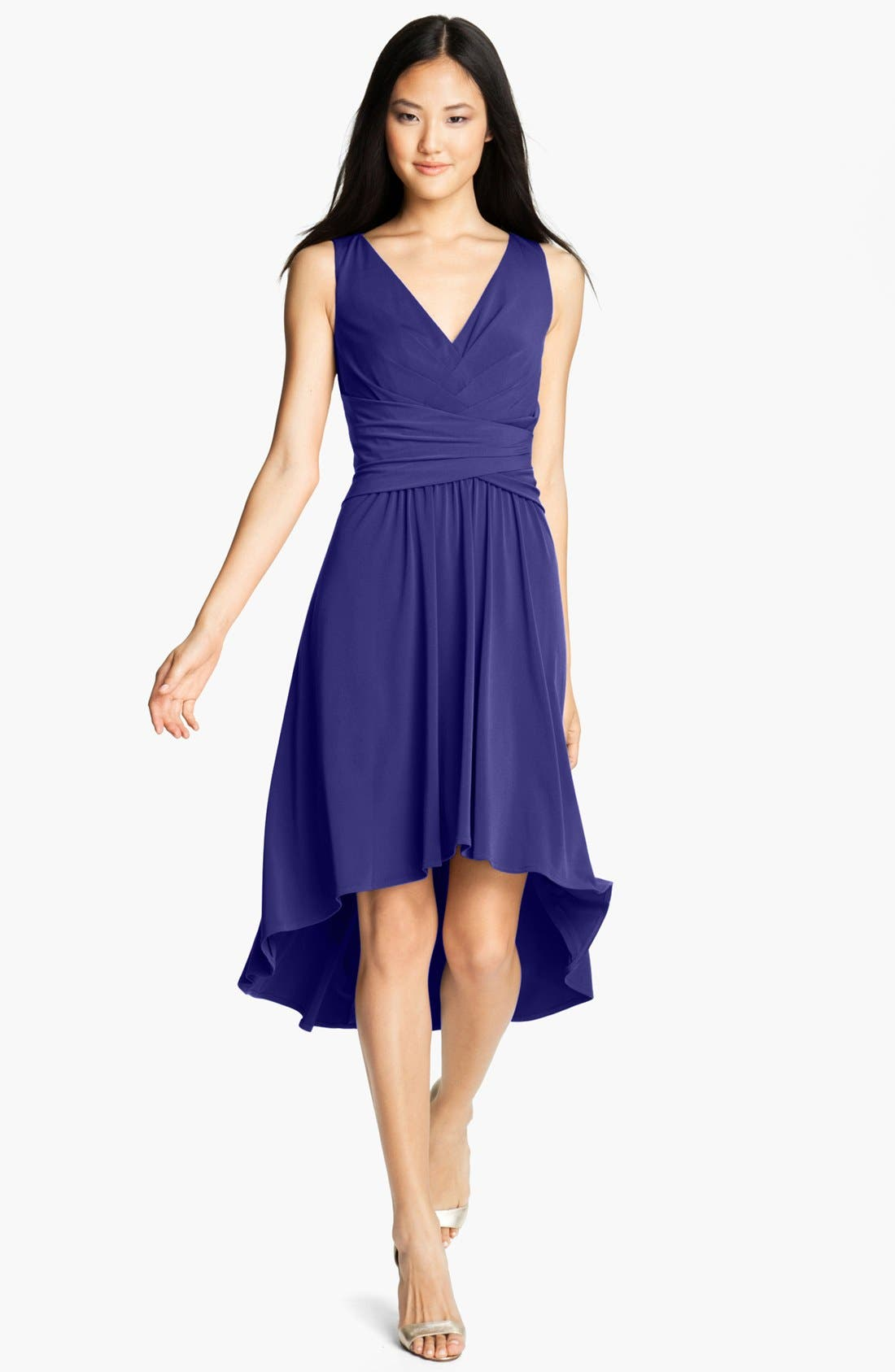 Alternate Image 1  - Ivy & Blu Pleated Front V-Neck Dress