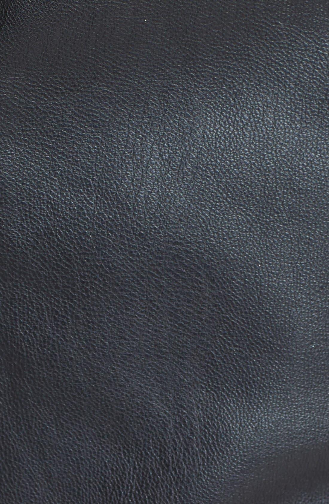 Alternate Image 3  - ASTR Faux Leather Halter Crop Top