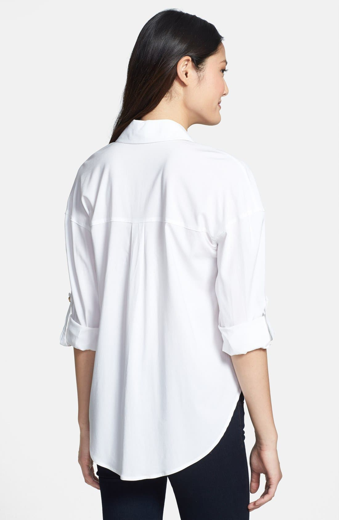 Alternate Image 2  - KUT from the Kloth 'Rebecca' Roll Sleeve Blouse