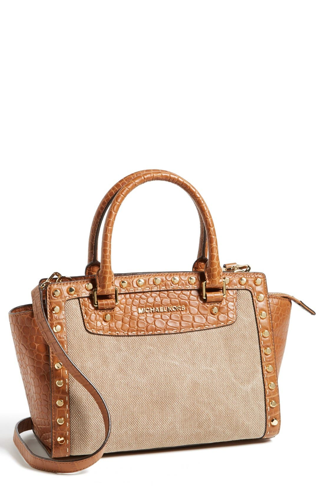 Alternate Image 1 Selected - MICHAEL Michael Kors 'Medium Selma' Studded Satchel